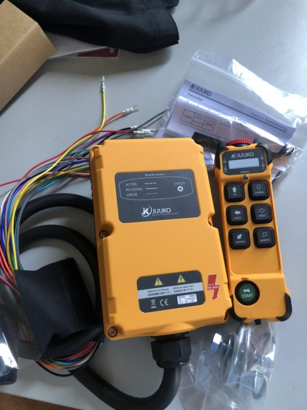 điều khiển từ xa cầu trục hãng juuko k600