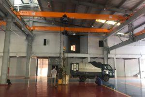 thi công 2 bộ cầu trục 2 tấn nhà xưởng sóc sơn hà nội