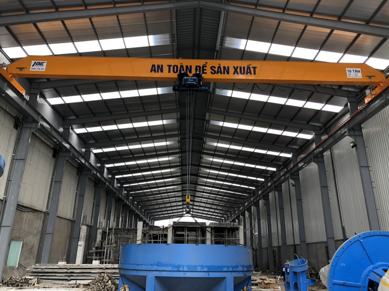 Cầu trục 10 tấn nhà máy xi măng Ninh Bình
