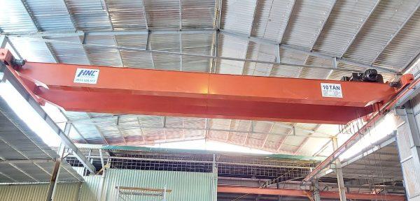 Cầu trục dầm đôi 10 tấn sản xuất giấy tại Bắc Ninh