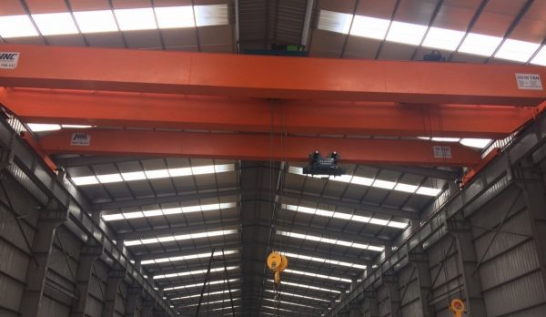 Cầu trục dầm đôi 25 tấn sản xuất giấy tại Bắc Ninh