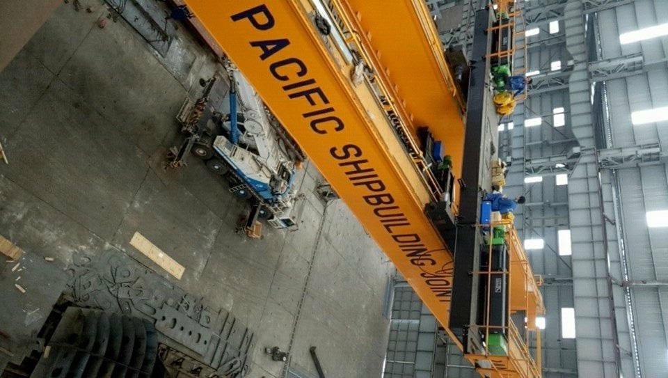 Cầu trục dầm đôi 30 tấn nhà máy đóng tàu Vĩnh Bảo Hải Phòng