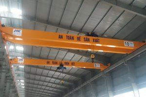 Cầu trục dầm đôi 10 tấn nâng hạ máy biến áp Bắc Ninh