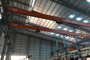 cầu trục dầm đơn 2 tấn nhà máy ô tô bắc ninh