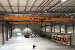 Cầu trục dầm đơn 3 tấn kết cấu thép tại Bắc Ninh