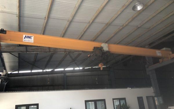 cầu trục dầm đơn nhà xưởng công ty gương kính tại bắc ninh