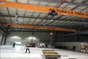 Cầu trục dầm đơn 3 tấn nâng hạ khuôn mẫu tại Bắc Giang