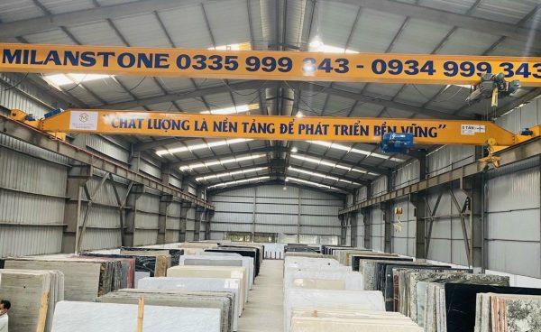 Cầu trục dầm đơn 5 tấn nâng hạ dá tự nhiên Thanh Trì Hà Nội