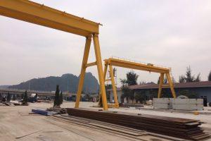 Cổng trục dầm đôi 10 tấn xây lắp hải long hải phòng
