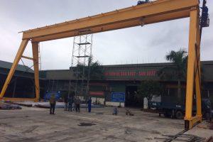 Cổng trục dầm đôi 15 tấn Vinacomic Quảng Ninh