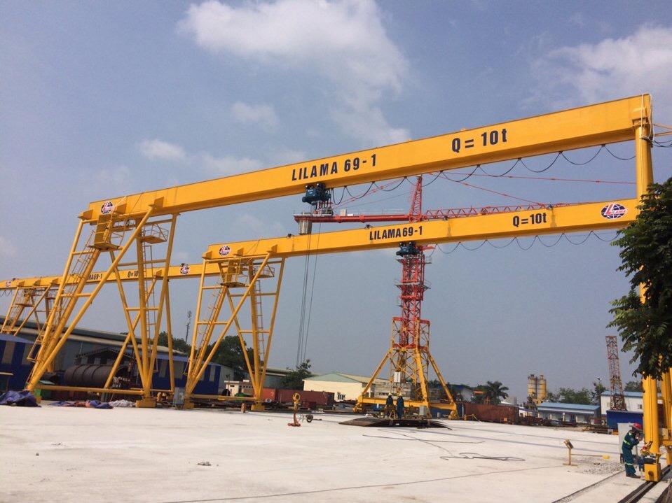 cổng trục dầm đơn 10 tấn lilama bắc ninh