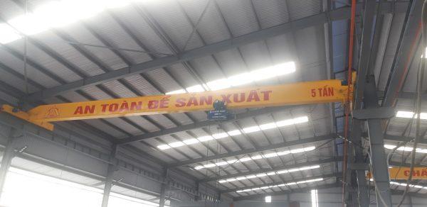 Thi công cầu trục dầm đơn 5 tấn An Bình Quảng Ninh