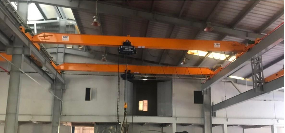 Cầu trục dầm đơn 2 tấn lắp đặt tại dự án: Đh – Zile vina kcn Khai Quang Vĩnh Phúc