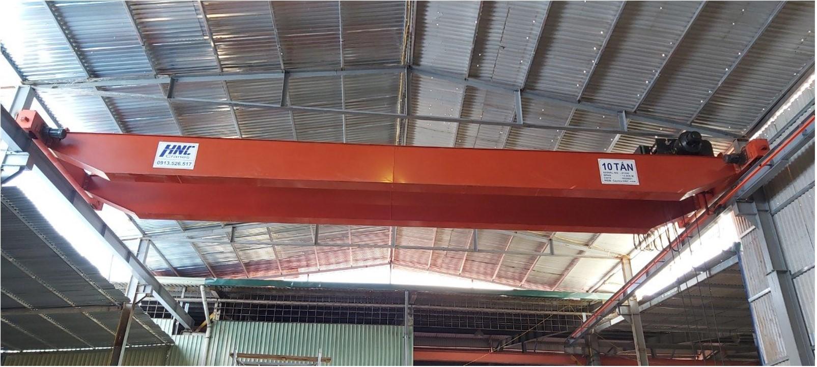 Cầu trục dầm đôi 10 tấn lắp đặt tại dự án: Công Ty Đá Tự Nhiên HTC