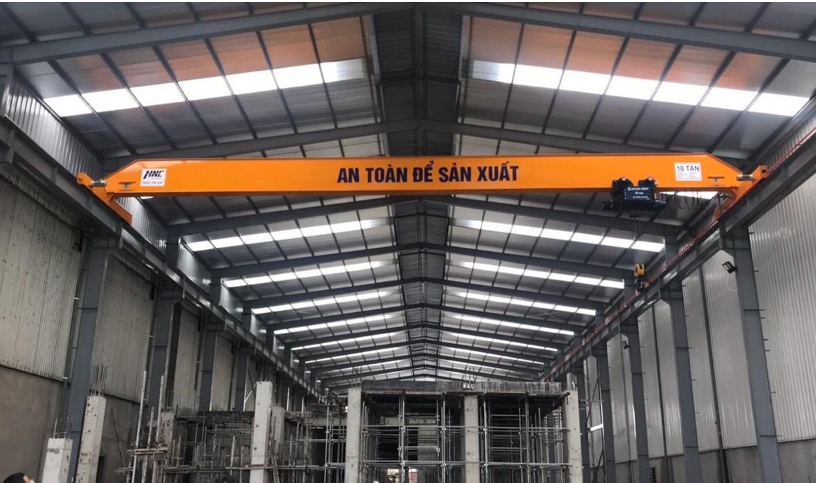 Cầu trục dầm đơn 10 tấn lắp đặt tại công ty giấy Phát Đạt Bắc Ninh