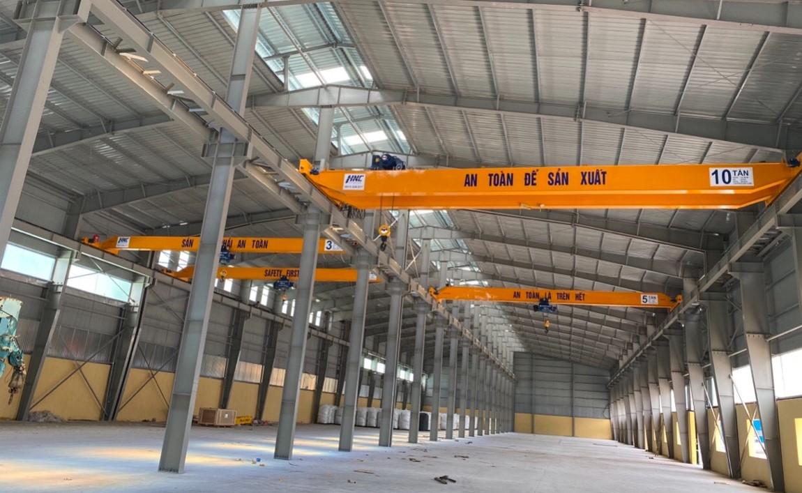 Cầu trục dầm đôi 10 tấn lắp đặt tại dự án Mikado Thái Bình
