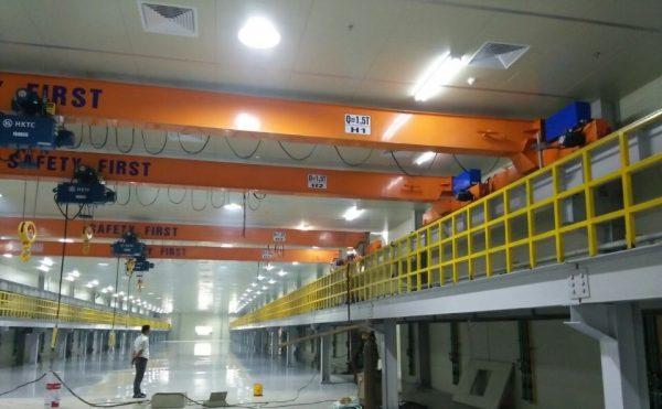 4 bộ cầu trục dầm đơn 5 tấn tại quế võ bác ninh