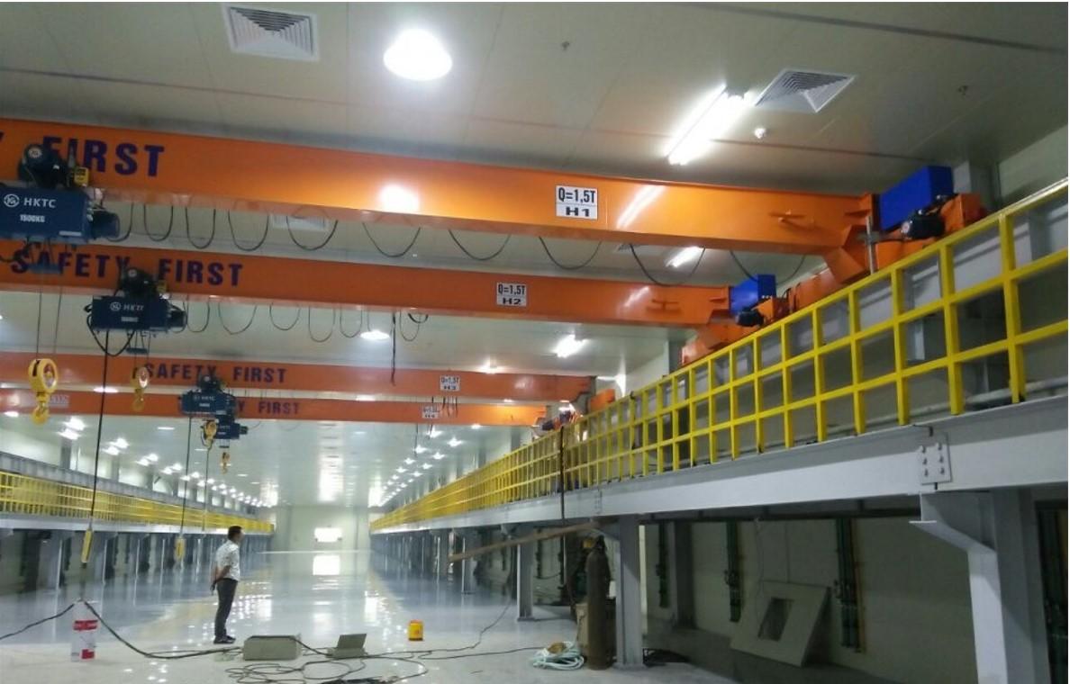 Cầu trục dầm đơn 1,5 tấn lắp đặt tại dự án :Sji Tech kcn Đình Trám Bắc Giang