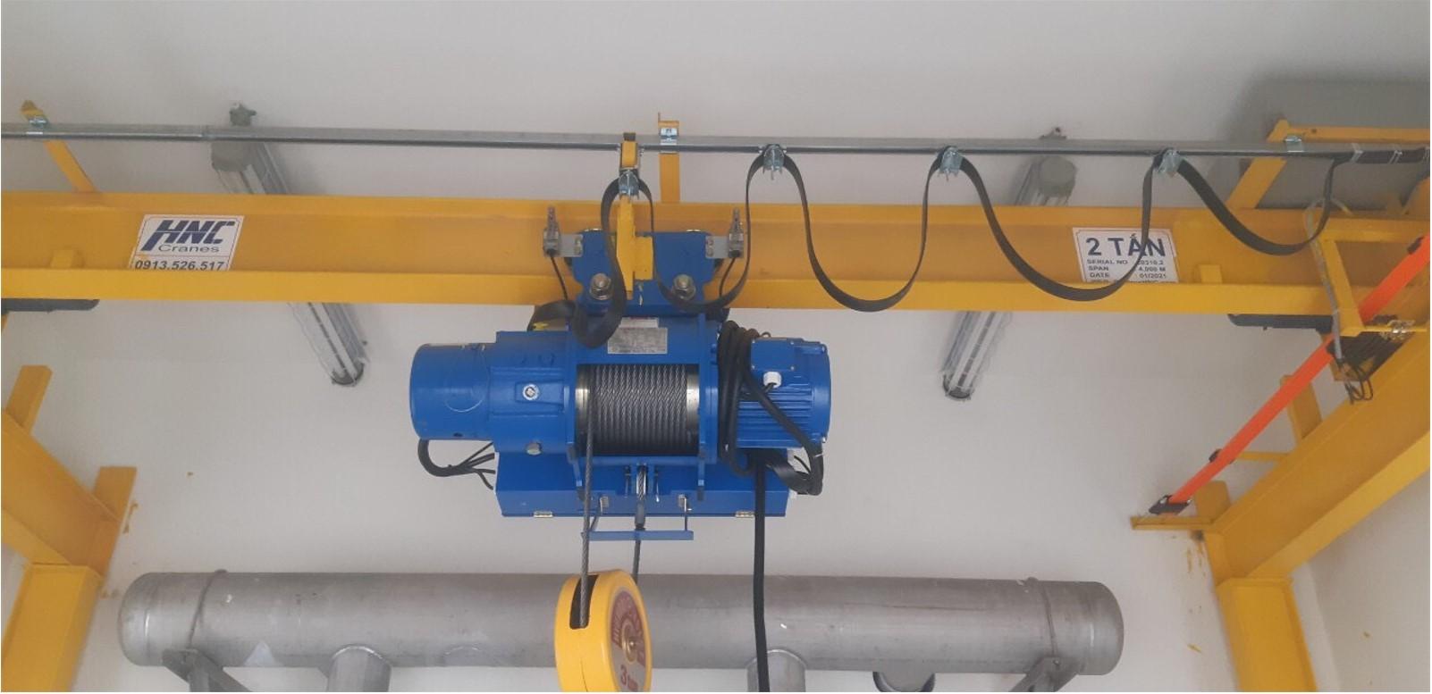 Cầu trục dầm đơn 2 tấn lắp đặt tại dự án: Trạm sử lý nước thải KCN Vsip Hải Phòng