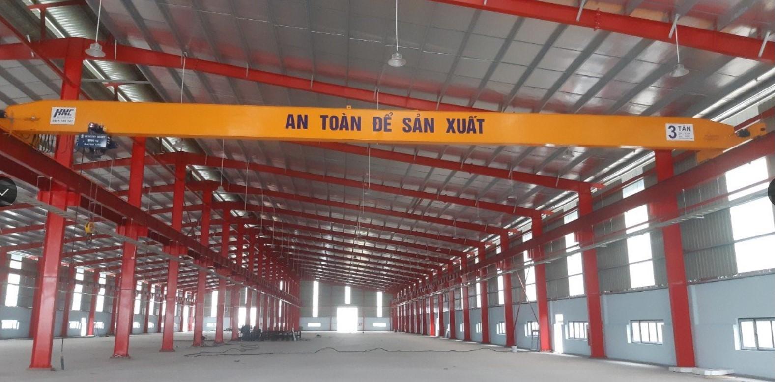 Cầu trục dầm đơn 3 tấn lắp đặt tại dự án: Đ-H-A Ninh Bình