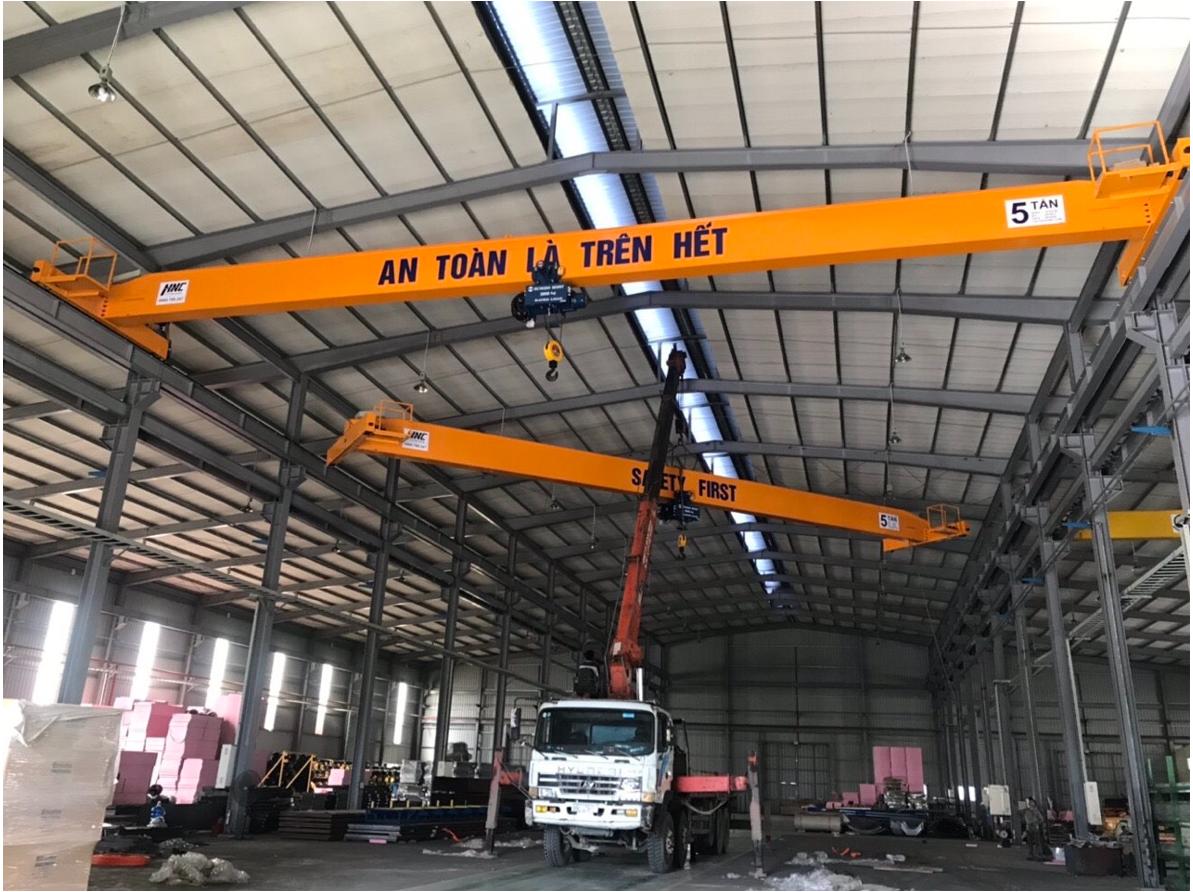 cầu trục dầm đơn 5 tấn Doosung Bắc Ninh