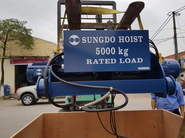 pa lang cáp điện tầm đôi 5 tấn sungdo